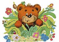 Схема для вышивки бисером Мишка с медом 5108
