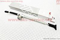 Насос алюминиевый высокого давления 300 psi/20.7 bar с манометром, для воздушных амортизаторов и вилок, D-PUMP