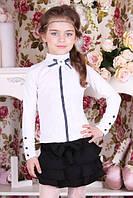 """Детская школьная блузка для девочки """"B9"""" (размер 116 см)"""