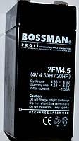 Свинцово-кислотный аккумулятор Bossman 4V/4,5Ah