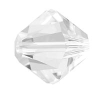Хрустальные бусины Swarovski биконус 5328 Crystal