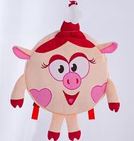 """Детский рюкзак - игрушка-рюкзачек """"кроха порося"""" (d 25 см)"""