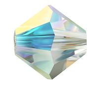 Бусины из хрусталя Swarovski биконус 5328 Crystal АВ