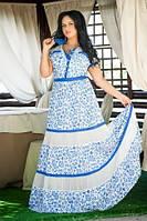 Длинное летнее платье из штапеля