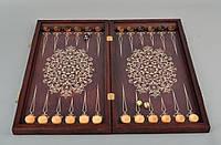 Набор 2 в 1: Шахматы+нарды со шкатулкой для фигур и фишек