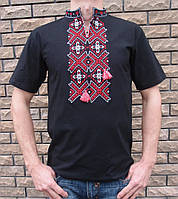 Вышитая Вышитая мужская футболка орнамент короткий рукавмужская футболка орнамент длинный рукав
