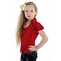 Блуза в горошек для девочки