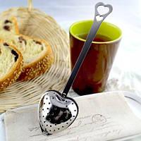 Ложка для заварки чая ситечко сито сердечко нержавейка