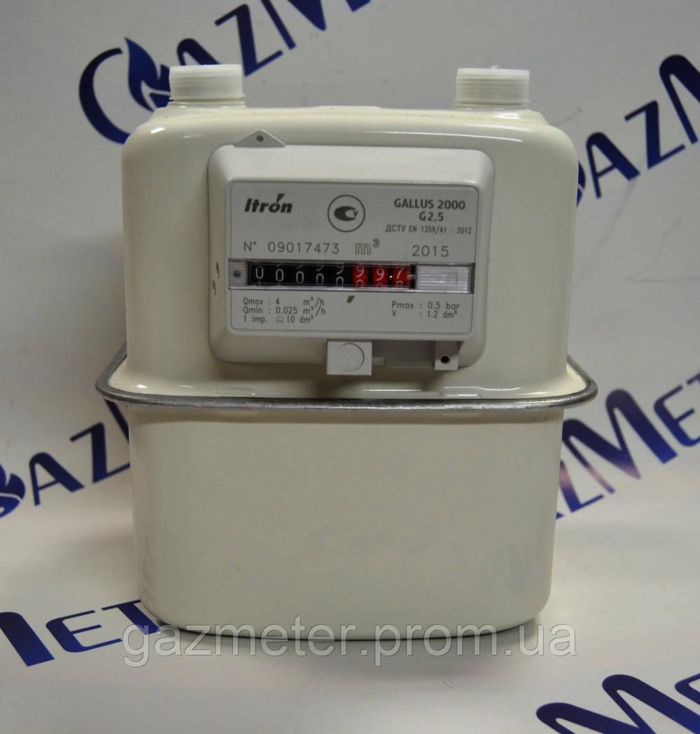 Счетчик газа Gallus 2000 G1.6; G2.5; G4 бытовой диафрагменный