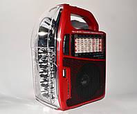 Фонарь-радиоприёмник Juncda 1308UR, для дачи и пикника, динамик 3Вт, USB/SD, LED 15+1, аккумулятор