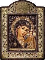 Набор с фигурной рамкой для вышивания бисером икона Богородица Казанская