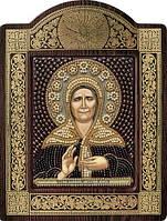 Набор с фигурной рамкой для вышивания бисером икона Св. Блж. Матрона Московская