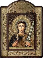 Набор с фигурной рамкой для вышивания бисером икона Ангел Хранитель