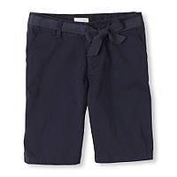 Детские школьные синие шорты для девочки, на рост - 118-122 см. (арт.3516