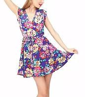 Нежное цветастое платье