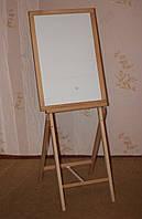 Доска - мольберт МАГНИТНАЯ для рисования, двухсторонняя, деревянная.
