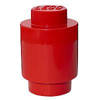 Одноточечный круглый красный контейнер для хранения Lego 40301730