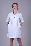 Медицинский халат для беременных 2117 (батист)