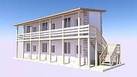 Быстрое строительство гостиниц .Экспресс - Проект на 6 номеров.