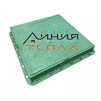 Люк пластиковый квадратный 680х680х85 (зеленый)