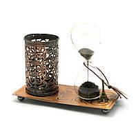 Часы МАГНИТНЫЕ с подставкой для ручек (16х13х7 см)(H011)