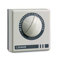 Механический комнатный настенный терморегулятор Cewal RQ01, 16 А