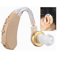Заушный слуховой аппарат hearing aid WT a22. Регулятор громкости. Вес 5 грм.