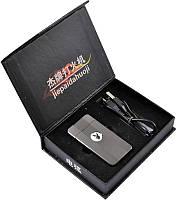 """Электроимпульсовая USB зажигалка """"Playboy"""" №310930 silver - оригинальный дизайн с эмблемой знаменитого журнала"""