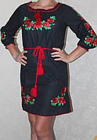 Платье вышиванка женское ( лен)