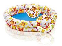 Надувной детский бассейн Intex 59460 с мячом и кругом