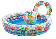 Надувной детский бассейн Intex 59469 с кругом и мячом