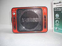 Цифровое радио с фонариком KN-218, аккумуляторное питание/батарейки, запись, микрофон, дисплей, SD/USB