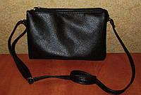 Удобная небольшая женская сумочка мессенджер черного цвета