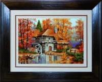 """Набор для вышивки крестом """"Осенний пейзаж"""""""