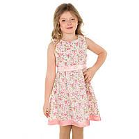 Нарядное летнее хлопковое платье для девочки