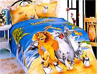 Детское постельное белье из сатина Мадагаскар La Scala