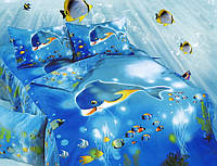 Детское постельное белье из сатина Подводный мир La Scala