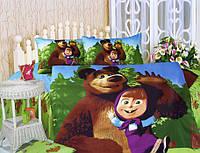Детское постельное белье из сатина Маша и медведь La Scala