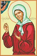 Канва с рисунком для вышивки крестом Св.Блаженная Матрона ИКан 3005