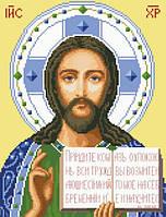 Канва с рисунком для вышивки нитками Христос Спаситель ИКан 3006