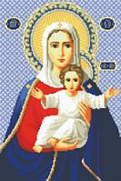 Канва с рисунком для вышивки крестом Богородица Леушинская ИКан 3014