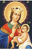 Канва с рисунком для вышивки нитками Богородица Балыкинская ИКан 3015