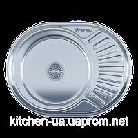 Мойка для кухни врезная овал 600 х 444 х 160/180 IMPERIAL 0,8 6044 глянцевая