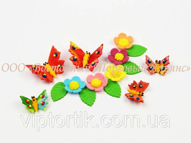 Фигурки из мастики цветы