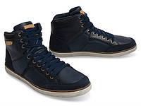 Мужские кроссовки синего цвета из натуральной кожи!, фото 1