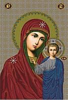 Схема для вышивки бисером Казанская икона Божьей Матери КМИ 1002