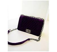 Сумка женская CHANEL BOY Velour Purple