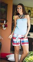 Комплект с шортами для девушек, пляжный