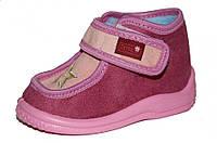 Детские ботиночки для девочки на липучке (Розовые, Zetpol, со звёздочкой)