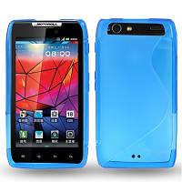 Силиконовый чехол Duotone для Motorola Droid Razr XT910 голубой